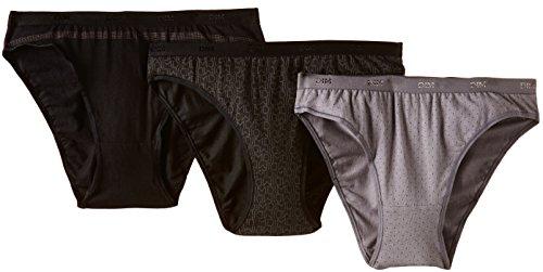 lotto di slip Dim 3 Coton donna Set neri Pockets logo Les YxBwBqIz
