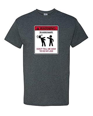 Thread Science Warning Job Dad Father Work Construction Engineer Auto Mechanic Car Mens Funny Humor Pun Adult Men's Graphic Tee T-Shirt Heather Grey