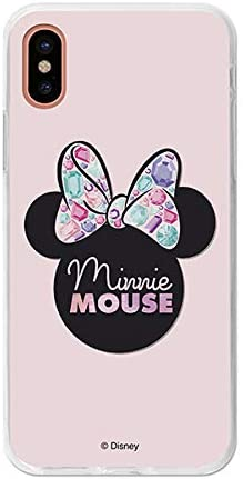 Carcasa iPhone X / XS Minnie Mouse Lunares Disney Transparente