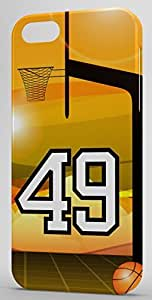 iphone covers Basketball Sports Fan Player Number 49 Snap On Decorative Iphone 5c Case