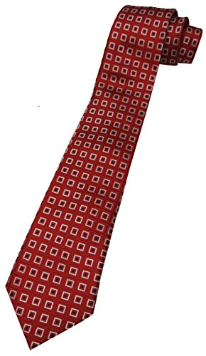 Men's Donald Trump Signature Collection Necktie Neck Tie Red, Black and Silver with Gold Emblem - Trump Signature Collection
