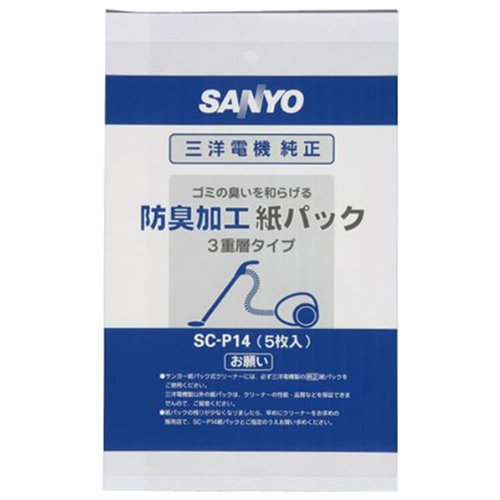 Sanyo cleaner for genuine paper bag (5 pcs.) SC-P14