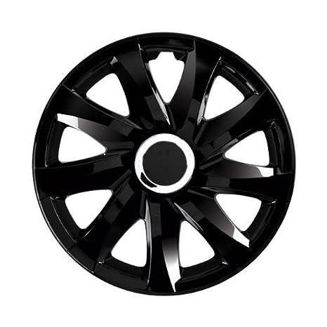 Tapacubos RKK DFT de Negro 14 pulgadas universal para casi todos los coches: Amazon.es: Coche y moto
