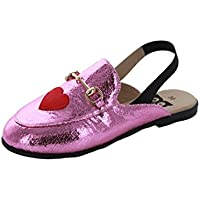 Hoo Shoes - Girls Mule/Slide - Metallic - Fashion Slip-On (Little Kid/Big Kid)
