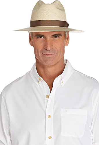 Coolibar UPF 50+ Men's Panama Fedora - Sun Protective (7.25 - Natural) by Coolibar
