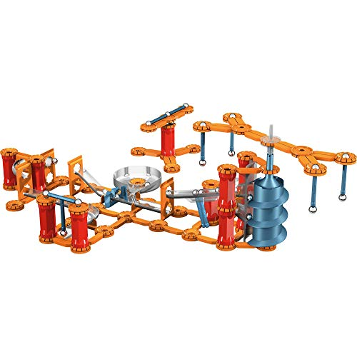 Geomag - MECHANICS GRAVITY SHOOT & CATCH - 243-Piece Building Set with Magnetic Motion, Certified STEM Marble Run Construction Toy for Ages 7 and Up