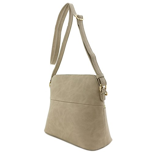 Tassel Beige Bag Crossbody Dome Medium Accent Brick rnAqHXrw