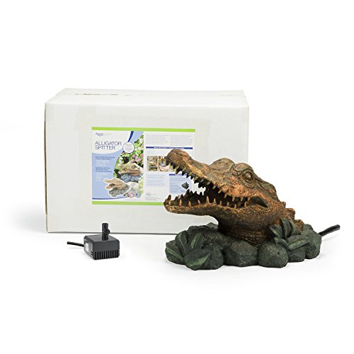 Aquascape Alligator Fountain Spitter for Pond, Container Water Gardens, and Water Features, Poly-Resin | 78208 by Aquascape (Image #3)