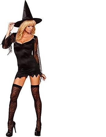 DLucc Sexy ausgestattet schwarze Hexe Hexe Kleidung Halloween-Party ...