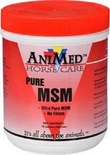 (ANIMED 1 lb Pure MSM Powder with No Filler For Equine or Dogs! Promotes Joint, Cartilage and Skin Health )