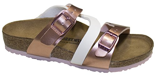 Birkenstock Salina Kids, Soft Metallics Rose White, Birko-Flor, Regular Width (31 M EU) by Birkenstock