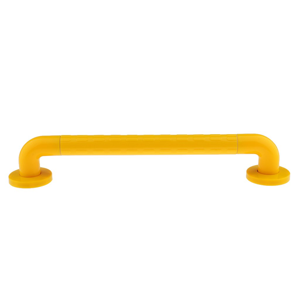 MagiDeal Zinc Plated Bathroom Shower Bar Disability Handle Hand Rail Grab Support Safety Aid Holder 30/40cm - 40cm, Yellow