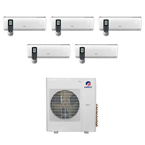 Gree MULTI36CVIR500-36,000 BTU Multi21+ Penta-Zone Wall Mount Mini Split Air Conditioner Heat Pump 208-230V (9-9-9-9-9)