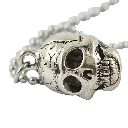 Gothic Mens Punk Skull Head Bone Pendant Ball Bead Chain Necklace Jewelry Necklace Jewelry Crafting Key Chain Bracelet Pendants Accessories ()