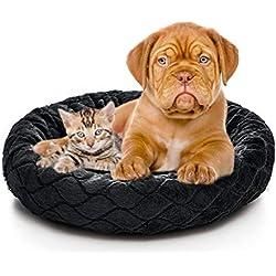 Orthopedic Dog Bed Comfortable Donut Cuddler Round Dog Bed Ultra Soft Washable Dog and Cat Cushion Bed (22''x 22''x 5'') (Style 7)