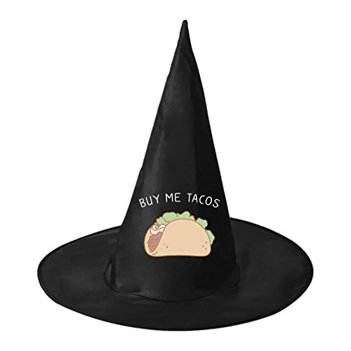 Taco Sexy Costumes (Halloween hat buy my tacos Couple Black Witch Costume Headwear for)