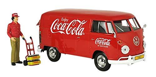 Stock Coca Cola - Coca-Cola 1/24 1963 Volkswagen T1 Cargo Van with New Delivery Driver, Handcart & 2 Bottle Cases