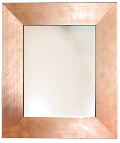 Brushed Copper Rose Gold Metal Finish Framed Wall Mirror inside size 8x10 11x14 16x20 24x26 24x36 20x40 30x36 30x40 36x48 large mirrors - Int Rose
