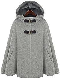 Women's Batwing Cape Wool Poncho Jacket Warm Cloak Coat