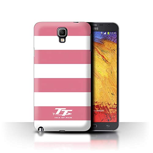 Official Isle of Man TT Phone Case/Cover for Samsung Galaxy Note 3 Neo/Pink Zebra Design/Elegance Collection ()