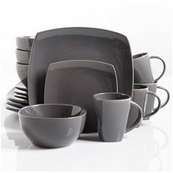Amazoncom Square Dinnerware Service For 8 Plates Bowls Mugs 32