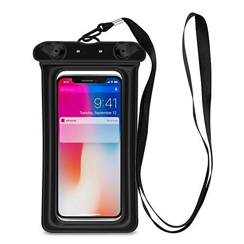 アソシエイト試用ビジュアル防水携帯ケース スマホ用 iPhoneとandroid 6.0 インチ以下全機種対応 首掛け式 ストラップ付き IPX8認定 水中撮影 お風呂/潜水/温泉/水泳など適用