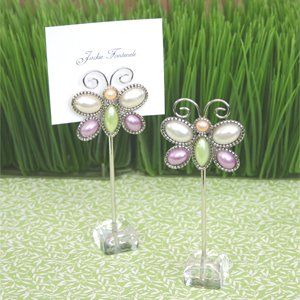 Love-is-Aflutter-Butterfly-Place-Card-Holders-set-of-12-Baby-Shower-Gifts-Wedding-Favors