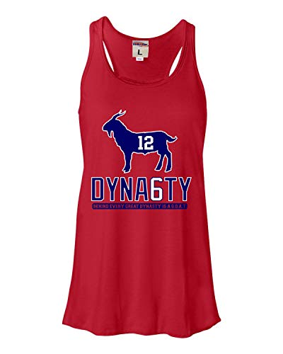 X-Large Red Womens Goat #12 Dynasty Flowy Racerback Tank Top T-Shirt