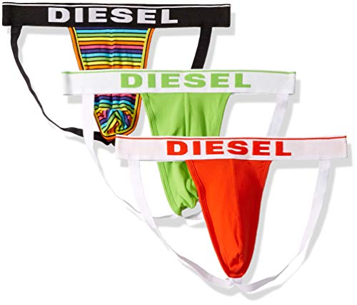 Diesel Men's Jocky 3 Pack Jockstraps, Green/Multi, S