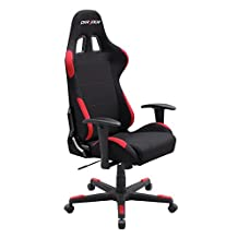 DXRacer Formula Series OH/FD01/NR Newedge Edition Racing Bucket Seat Office Chair (Black/Red)