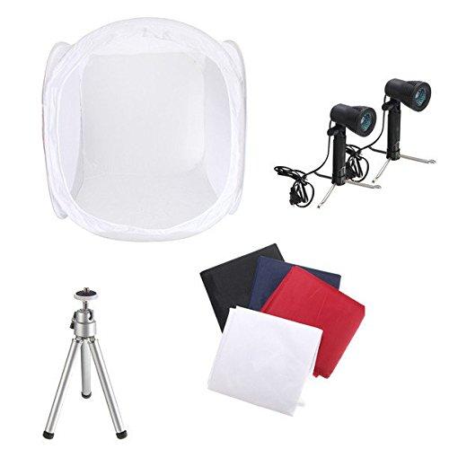 Icon Wheeled Computer Bag (Hiquty 30 Inch Photo Photography Tent Shooting Box Softbox Studio Kit Set With Light An)