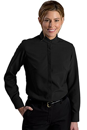 Edward's Garment Women's Batiste Banded Collar, X-Small Black