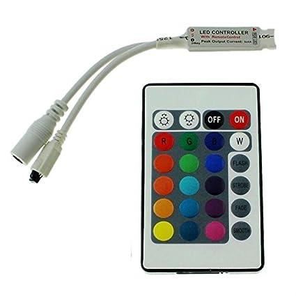 44Key Fernbedienung 12...24V 12A RGB LED IR Controller Remote Steuerung