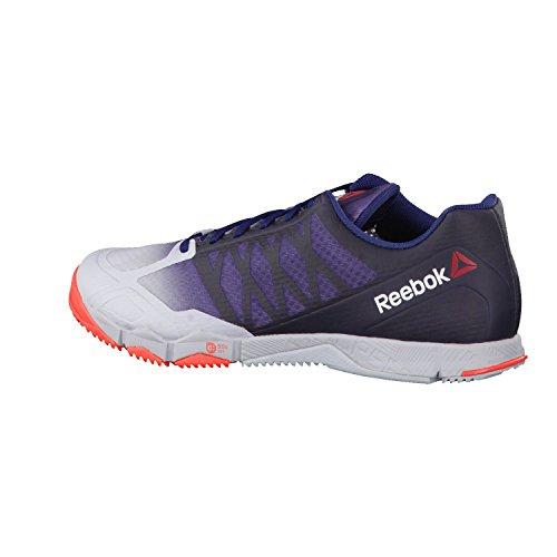 Reebok R Crossfit Speed TR Zapatillas de deporte, Hombre Cloud Grey/ Collegiate Navy/ Atomic Red