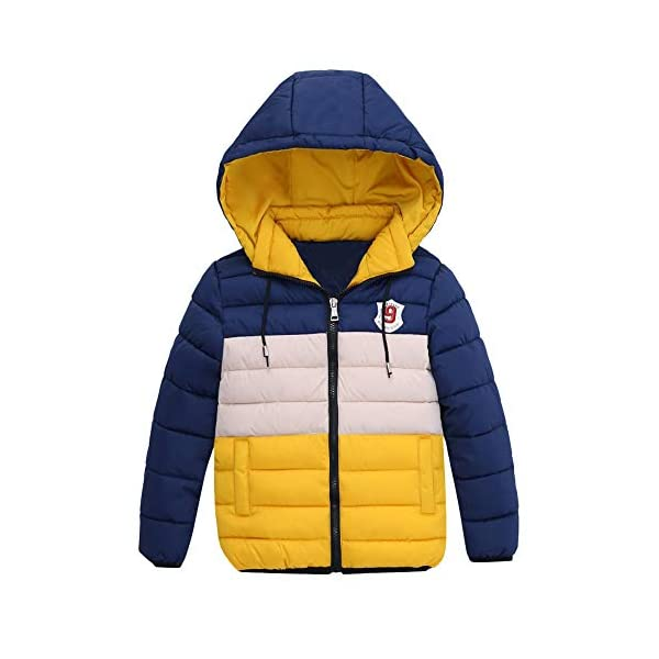 Kerrian Online Fashions 41uyQ1nwiTL Clearance! Paymenow Boys Active Winter Coat Fashion Outdoor Hooded Windbreaker Puffer Jacket Warm Outwear