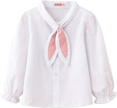 Camisa de Manga Larga para niñas recién Nacidas Camisa de Manga Blanca con Linterna Tops de corbatín Dulce: Amazon.es: Ropa y accesorios