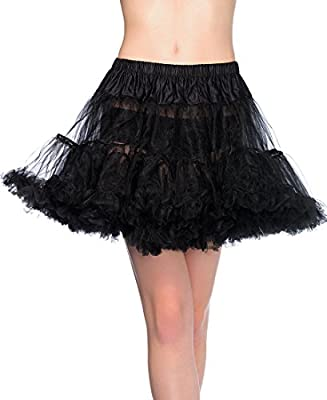 Leg Avenue 8990X Women's Plus Size Black Layered Soft Tulle Petticoat