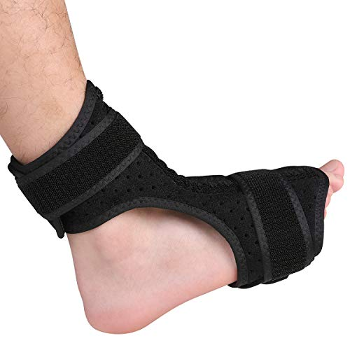 Everyday Medical Plantar Fasciitis Night Drop Foot Brace - Dorsal Splint AFO Orthotic Stretch Fits Right & Left Foot, Adjustable Instep Injury Support Women & Men, Heel Pain Relief ()