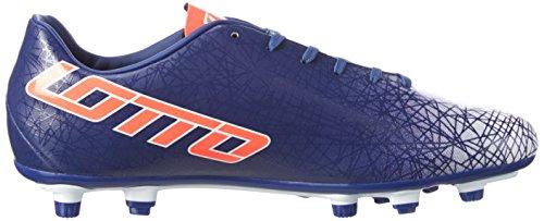 Lotto Lzg Viii 700 Fgt, Botas de Fútbol para Hombre Azul / Rojo (Blu Twi / Red Fl)