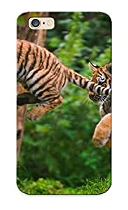 Fireingrass Durable Tiger Cub Jump Back Case/ Cover For Iphone 6 For Christmas