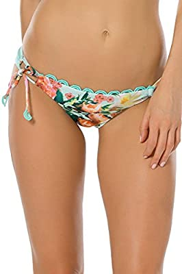 Becca by Rebecca Virtue Women's High Tea Loop Tie Side Hipster Bikini Bottom