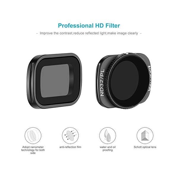 Neewer Filtri Magnetici per DJI Osmo Pocket 2/1 Fotocamera Lenti Include Filtri ND4 ND8 ND16 CPL ND32/PL ND64/PL Multi-Rivestiti con Scatola per Fotografia Esterna(Nero) 3 spesavip