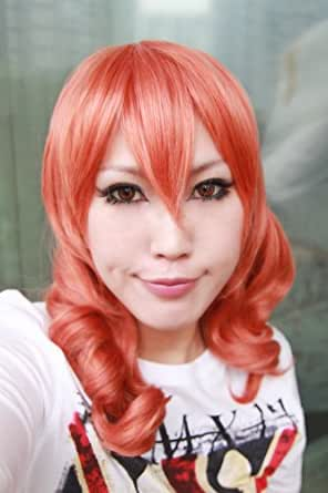 FINAL FANTASY XIII FF13 Vanille COSPLAY Wig/ponytail + yellow wig cap