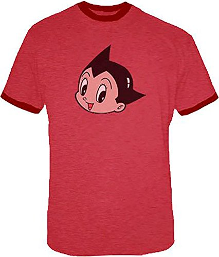 Astro Boy Scott Pilgrim vs. The World Heather Red Adult T-shirt Tee (Adult Large)