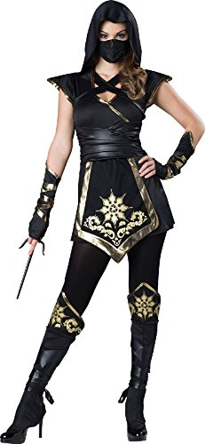 Fun World Women's Ninja'S Mystique Costume, Black/Gold -