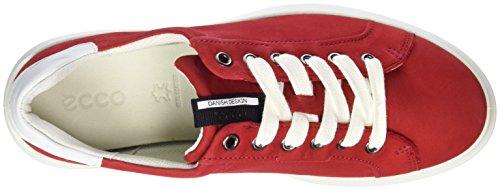 Ecco 221523, Zapatillas Mujer Rojo (56545 Chili Red/White)