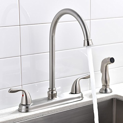 Brushed Nickel High Spout - 8