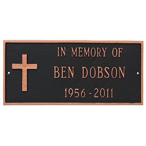 Montague PCS-0079S1-W-WS Rugged Cross Memorial Sign Plaqu...