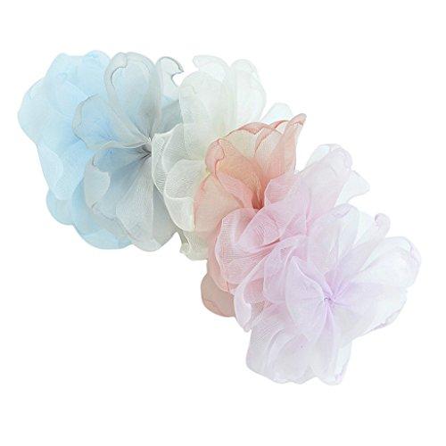 Silk Chiffon Rosette - Baoblaze 6 Colors Chiffon Silk DIY Rosette Wedding Flowers for Handmade Hair Clips Bows Flower Bouquet Wedding Boutique Hair Bows Headband For Girls Women Teens Newborns