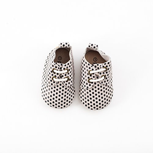 Piper Finn Genuine Leather Oxford Shoes - Baby Soft Sole + Toddler Hard Sole Classic Dots